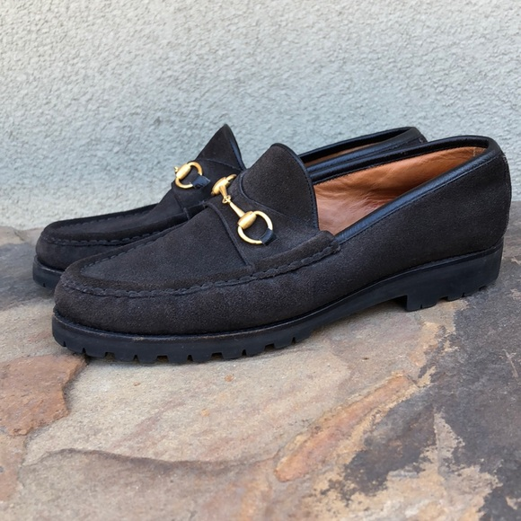 Gucci Shoes - Gucci suede horsebit loafers